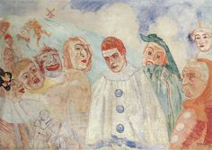 """Le désespoir de Pierrot"" Painted by James Ensor"