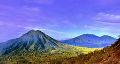 The view along the trek from Ijen crater, East Java
