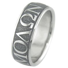 Wedding Ring Tattoos Men's Titanium Molon Labe Wedding Ring - Browse our outstanding selection of unique titanium rings and bracelets for the most discerning tastes: zirconium, Damascus steel, and carbon fiber jewelry. Titanium Wedding Rings, Titanium Rings, Wedding Men, Wedding Bands, Camo Wedding, Wedding Ideas, Wedding Favors, Tattoo Ringe, Heart Wedding Rings