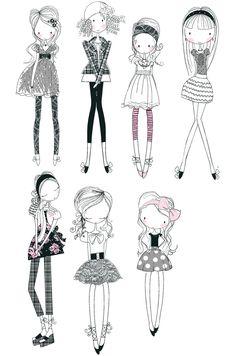 Mädchen gezeichnet