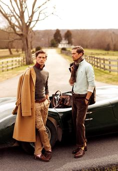 Ralph Lauren F/W 2012 - had to repin because this is my sisters college boyfriend  & his twin :-)