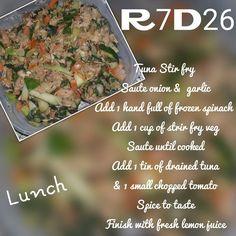 28 Dae Dieet | TUNA STIR FRY | Dag 26