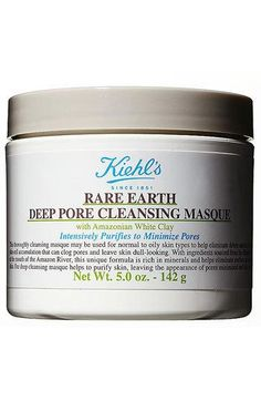 Kiehl's Since 1851 'Rare Earth' Deep...blackhead buster. If it dries out in the jar, just wet it as you go.great stuff.