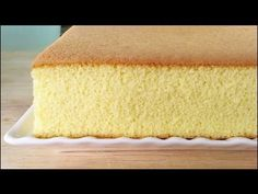 ▶ How to Make Castella Cake (蜂蜜蛋糕) - YouTube. Actual recipe is here: http://kitchentigress.blogspot.sg/2013/11/castella-cake-video-recipe.html