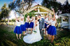 Kim & Andy's Bright & Bold Bernardo Winery Wedding|Photographer:  Brett Charles Rose Photo