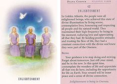 Today's Atlantis Card – Diana Cooper Atlantis, Diana Cooper, Tarot Meanings, Doreen Virtue, Divine Light, Live In The Present, Angel Cards, Oracle Cards, Past Life