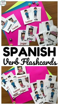 Printable Spanish Flashcards: Spanish Verb Flashcards