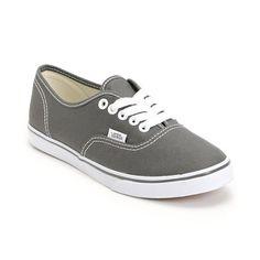 Vans Girls Authentic Lo Pro Pewter Shoe