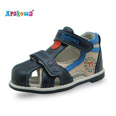 cd4469b34 Buy Apakowa New kids summer shoes hook   loop closed toe toddler boys  sandals orthopedic sport pu leather baby boys sandals shoes