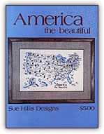 America the Beautiful - United States Map from Sue Hillis Designs