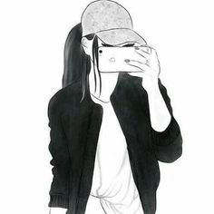 beautiful, black and white, clothes, girl, girls Tumblr Girl Drawing, Girl Drawing Sketches, Cute Girl Drawing, Art Drawings Sketches Simple, Girl Sketch, Tumblr Drawings, Girly Drawings, Outline Drawings, Drawings Of Girls