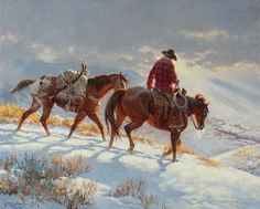 "Clarke Kelley Price (1945) - ""Good to Get Home"" -  Oil."