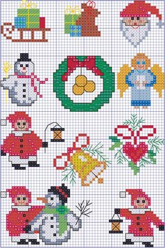 ru / Фото - A punto croce bambini - Los-ku-tik Xmas Cross Stitch, Cross Stitch Letters, Cross Stitching, Cross Stitch Embroidery, Beading Patterns, Embroidery Patterns, Stitch Patterns, Loom Patterns, Loom Beading