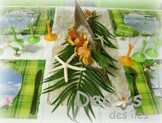 dcor centre table mariage antillais barque coco dcoration de table exotiquedcoration - Deco Table Exotique
