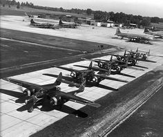A line of P61 Black Widows - great shot