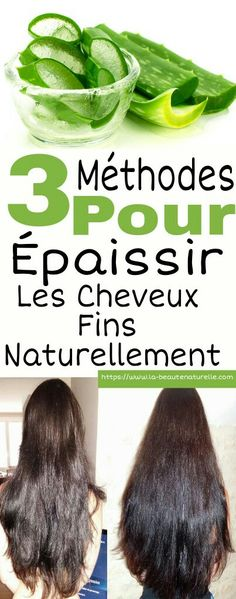3 methods to thicken fine hair naturally- 3 méthodes pour épaissir les cheveux fins naturellement Natural Methods To Thicken Fine Hair - Natural Hair Tips, Natural Hair Styles, Short Layered Bob Haircuts, Maquillaje Halloween, Grilling Gifts, Hair Thickening, Damaged Hair Repair, Cute Hairstyles, Hair Hacks