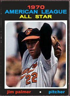 1971 Topps Jim Palmer All-Star, Baltimore Orioles, Baseball Cards That Never Were