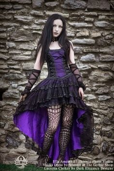 Model: Ella Amethyst Photo: Phoenix Photo Vision Dress: Sinister Choker: Dark Elegance Designs for: The Gothic Shop - www.the-gothic-shop.co.uk Welcome to Gothic and Amazing  www.gothicandamazing.org