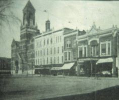 Eastside of the Square, Oskaloosa, Iowa, 1910 :: Mahaska History