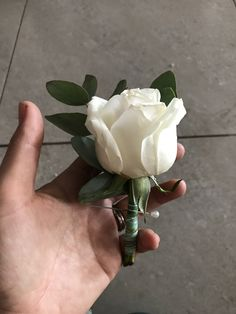 A handsome grooms buttonhole. Love a simple rose and eucalyptus combination for a wedding. Designed by Bliss Floral Creations Groom Buttonholes, Simple Rose, Grooms, Personalized Wedding, Bliss, Floral Design, Handsome, Flowers, Plants