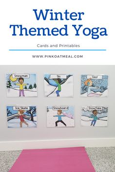 Winter themed yoga is a fun way to incorporate movement and gross motor skills all winter long. You will love moving like an ice skater and snowboarder! This winter gross motor activity is the perfect addition to any classroom, pediatric physical therapy, pediatric occupational therapy, physical education, home, daycare and more! Your kids will love this winter activity and so will you! Fine Motor Activities For Kids, Winter Activities For Kids, Sensory Activities, Therapy Activities, Sensory Play, Infant Activities, Therapy Ideas, Kinesthetic Learning, Childrens Yoga