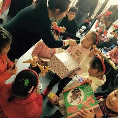 There was gift exchanges amongst the students. Everyone brought in a gift and everyone received a gift.