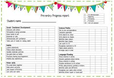 1000 images about progress reports on pinterest for Montessori report card template
