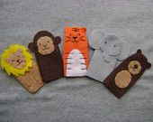 Zoo Animal Finger Puppets - FREE SHIPPING (US Domestic)