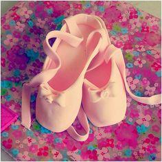 One Pair of Pink Ballerina Ballet Slippers by MarshmallowSugar