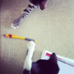 Learning to write, phase one: introducing the pen - @nesuss- #webstagram
