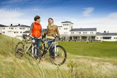 Bike to beautiful Solastranden, and eat lunch at Sola Strand Hotel! #RegionStavanger #Norway