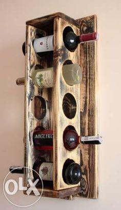 Półka na wino z desek z palet rustic vintage Czerwionka-Leszczyny - image 2