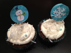 Chocolate cupcakes with coconut frosting Coconut Frosting, Office Holiday Party, Chocolate Cupcakes, Desserts, Food, Coconut Icing, Tailgate Desserts, Meal, Deserts