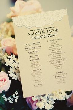 15 Unique (and Free!) Printable Wedding Programs: Let's face it, weddings can be expensive, which is why I've found some of the coolest, cutest, and chicest wedding program printables from all over the web.