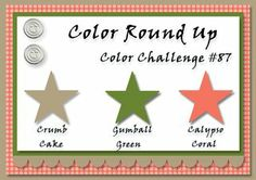 Color Round Up #87. using SU colors. For My handmade greeting cards visit me at  My English Personal blog: http://stampingwithbibiana.blogspot.com/