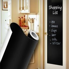 Blackboard Removable Vinyl Sticker chalkboard Decal Peel & Stick on wall paper Chalkboard Markers, Chalkboard Vinyl, School Chalkboard, Wall Stickers, Wall Decals, Vinyl Labels, Blackboards, School Fun, How To Remove