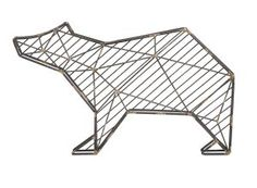 Barlow Metal Bear Wall Decor