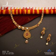 Get in touch with us on 990 444 3030 Kundan Jewellery Set, Jewelry Design Earrings, Necklace Designs, Gold Earrings, Diamond Jewelry, Gold Jewelry, Fine Jewelry, Gold Necklace, Gold Bangles Design