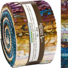 Robert Kaufman Fabrics Artisan Batiks Sorrento Roll Up Jelly Roll. Hancocks of Paducah offers a wide selection of Fabric Strip by Robert Kaufman Hancocks Of Paducah, Robert Kaufman, Fabric Strips, Sorrento, Jelly, Cotton Fabric, Artisan, Fabrics, Tejidos