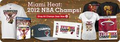 The Miami Heat are the 2012 NBA Champions! Head to FansEdge to pick up your Heat NBA Champs gear.   http://www.fansedge.com/nba-finals-championship-gear.aspx?social=pinterest_62112_heat
