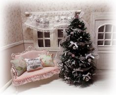 Christmas Tree shabby chic style by LasMInisdeMaini on Etsy, €16.00