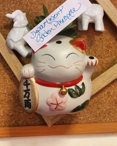 maneki-neko/lucky cat is available at Department Golden Pineapple Please PM/emails us for further info Man Icon, Gym Room, Maneki Neko, Beauty Shop, Holiday Travel, Bohemian Style, Fathers Day, Pineapple, Fashion Accessories