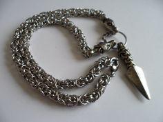 Manx Knot Viking Gungnir with Dragon head Chain