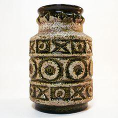Fat Lava Keramik Vase • Bay • 70's West German Pottery • Pop Art • Space Age