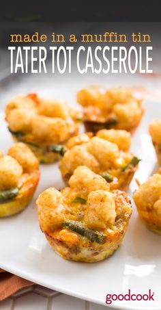 Muffin Tin Mini Tater Tot Casseroles - Enjoy a classic, made in resolution-sized, serving-sized mini muffins. Our Good Cook 24-count tin means you can make enough for dinner...and to have as leftovers for the rest of the week!