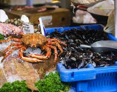 Game meat and Sea Food at Borough market