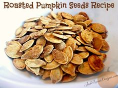 Roasted Pumpkin Seeds- Family Favorite Recipe and DIY Tutorial Roasted Pumpkin Seeds – YUM! Make these every year, this is my favorite recipe yet. I'll definitely repeat it! Fall Recipes, Holiday Recipes, Snack Recipes, Cooking Recipes, Roasted Pumpkin Seeds, Roast Pumpkin, My Favorite Food, Favorite Recipes, Pumpkin Seed Recipes