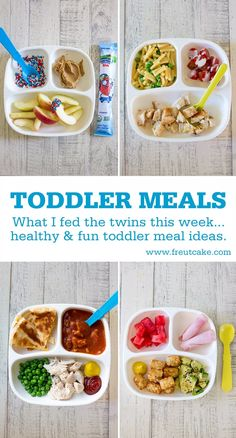 Toddler Meals What I Fed The Twins. Healthy, fun, easy and family friendly toddler meal ideas. Healthy Toddler Meals, Healthy Meal Prep, Kids Meals, Healthy Kids, Toddler Lunches, Toddler Dinners, Toddler Food, Healthy Cooking, Easy Meals