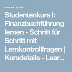 Studentenkurs I: Finanzbuchführung lernen - Schritt für Schritt mit Lernkontrollfragen | Kursdetails - Learnity