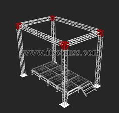 Indoor event trussing and stage deck system, show room, exhibition booth.ect. itsctruss@gmail.com; www.itsctruss.com Event Lighting, Stage Lighting, Dream Home Design, House Design, Steel Erectors, Dj Dj Dj, Concert Stage Design, Truss Structure, Welding Design